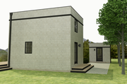 Modern Style House Plan - 1 Beds 1 Baths 610 Sq/Ft Plan #914-4 Exterior - Rear Elevation