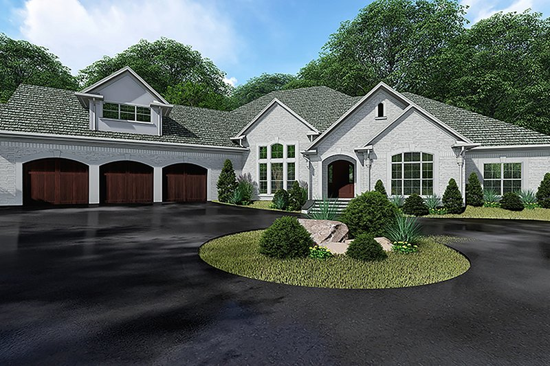 Architectural House Design - European Exterior - Front Elevation Plan #923-136