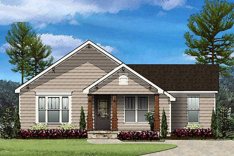 Country Exterior - Front Elevation Plan #977-11
