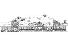 Dream House Plan - European Exterior - Rear Elevation Plan #5-410