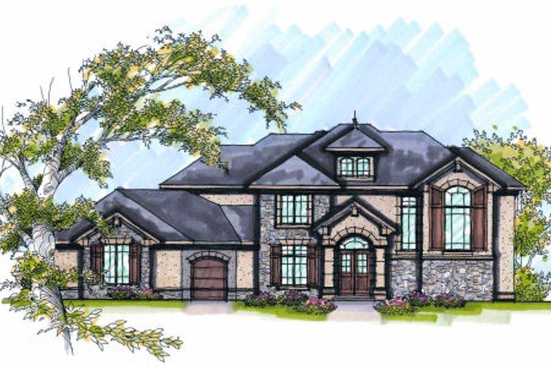Dream House Plan - European Exterior - Front Elevation Plan #70-1008