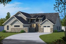 House Plan Design - European Exterior - Front Elevation Plan #20-2437