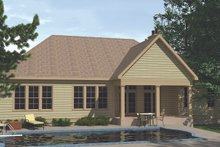 Ranch Exterior - Rear Elevation Plan #1071-11