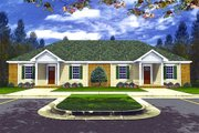 Ranch Style House Plan - 2 Beds 2 Baths 1980 Sq/Ft Plan #21-104 Exterior - Front Elevation