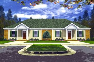 Ranch Exterior - Front Elevation Plan #21-104