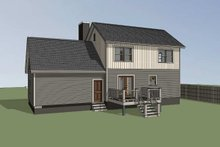 House Plan Design - Country Exterior - Rear Elevation Plan #79-180