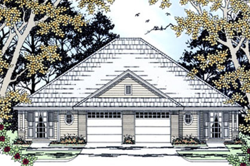 Country Exterior - Front Elevation Plan #42-374