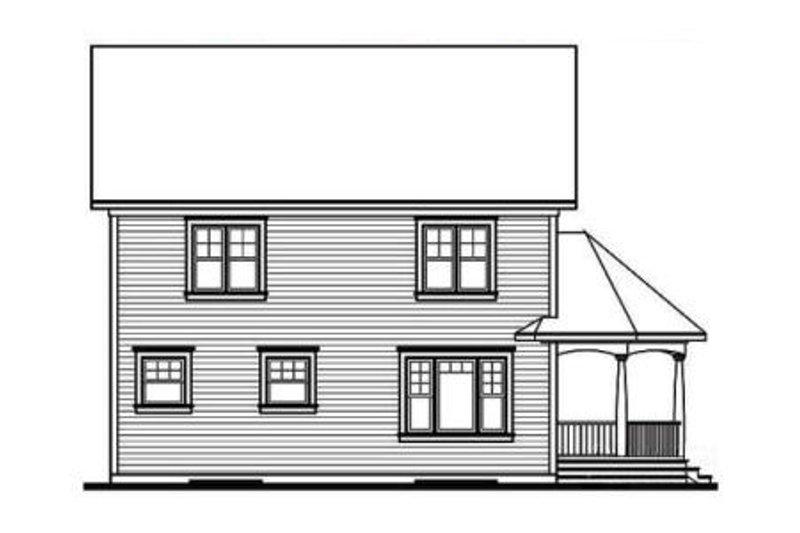 Cottage Exterior - Rear Elevation Plan #23-521 - Houseplans.com