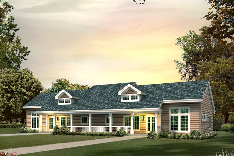 House Plan Design - Country Exterior - Front Elevation Plan #57-681