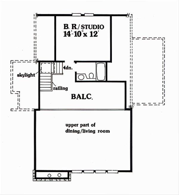 Cabin Floor Plan - Upper Floor Plan Plan #456-10