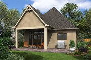 European Style House Plan - 1 Beds 1 Baths 960 Sq/Ft Plan #48-1012 Exterior - Rear Elevation