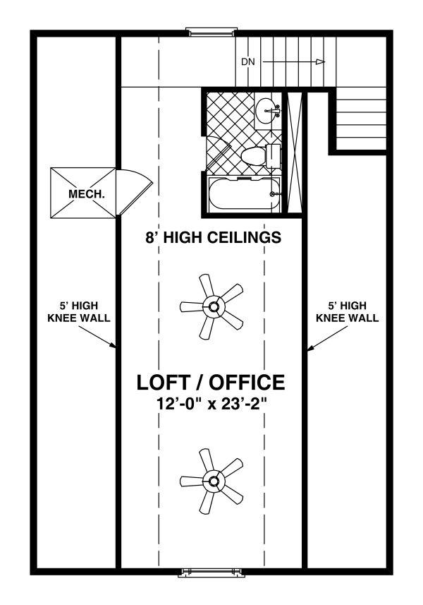 House Plan Design - Craftsman Floor Plan - Upper Floor Plan #56-721
