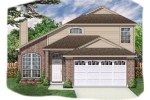 Architectural House Design - Traditional Exterior - Front Elevation Plan #84-350