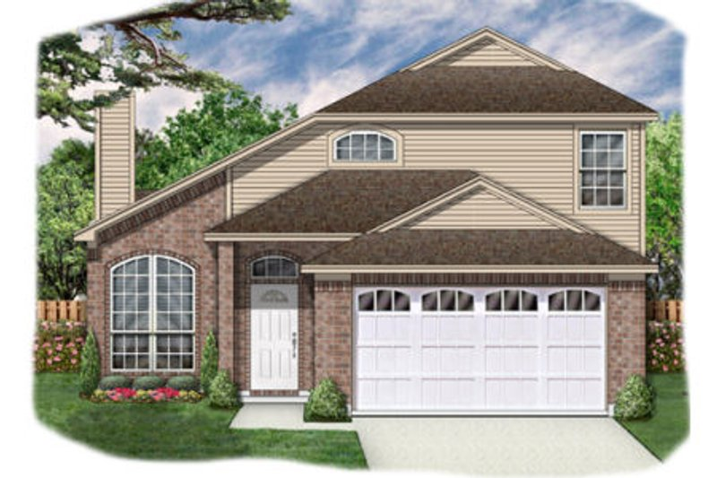 Traditional Exterior - Front Elevation Plan #84-350 - Houseplans.com