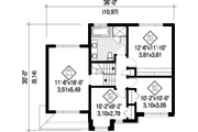 Contemporary Style House Plan - 3 Beds 1 Baths 1546 Sq/Ft Plan #25-4281 Floor Plan - Upper Floor Plan