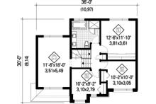 Contemporary Floor Plan - Upper Floor Plan Plan #25-4281