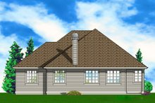 Dream House Plan - Traditional Exterior - Rear Elevation Plan #48-203