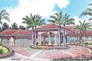 Mediterranean Style House Plan - 6 Beds 5.5 Baths 5084 Sq/Ft Plan #420-123