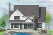 Farmhouse Style House Plan - 4 Beds 3.5 Baths 3625 Sq/Ft Plan #929-1052 Exterior - Rear Elevation