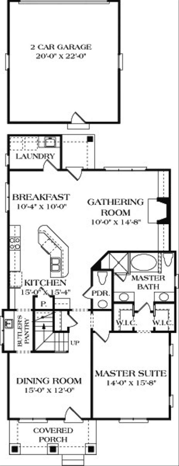Bungalow Floor Plan - Main Floor Plan Plan #453-6