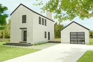 Modern Exterior - Front Elevation Plan #914-5