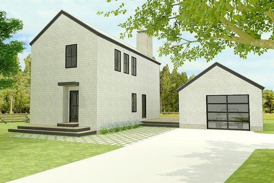 Modern Exterior - Front Elevation Plan #914-5