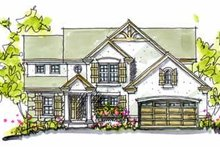 Tudor Exterior - Front Elevation Plan #20-958
