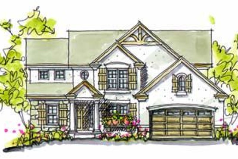 Tudor Exterior - Front Elevation Plan #20-958