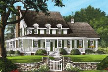 Architectural House Design - Country Exterior - Front Elevation Plan #137-199