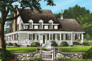House Plan Design - Country Exterior - Front Elevation Plan #137-199