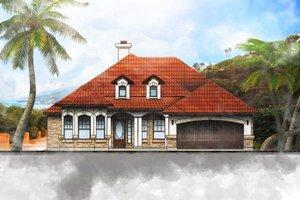 Home Plan - Mediterranean Exterior - Front Elevation Plan #80-143