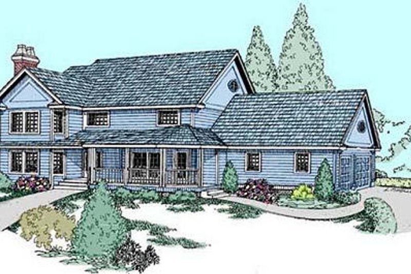 Traditional Exterior - Front Elevation Plan #60-563 - Houseplans.com
