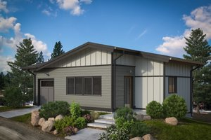 Modern Exterior - Front Elevation Plan #895-114