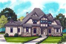 Dream House Plan - European Exterior - Front Elevation Plan #413-828