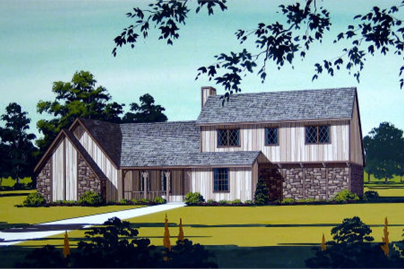 Modern Exterior - Front Elevation Plan #45-325