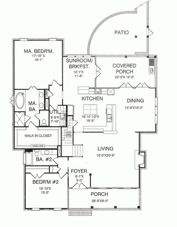 Farmhouse Floor Plan - Main Floor Plan Plan #37-227