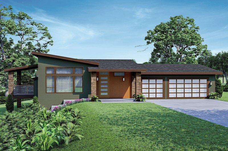 House Blueprint - Modern Exterior - Front Elevation Plan #124-1251