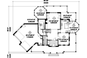 European Style House Plan - 3 Beds 2 Baths 3597 Sq/Ft Plan #25-4793 Floor Plan - Main Floor Plan