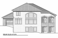 Dream House Plan - European Exterior - Rear Elevation Plan #70-925