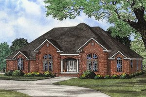 European Exterior - Front Elevation Plan #17-2308