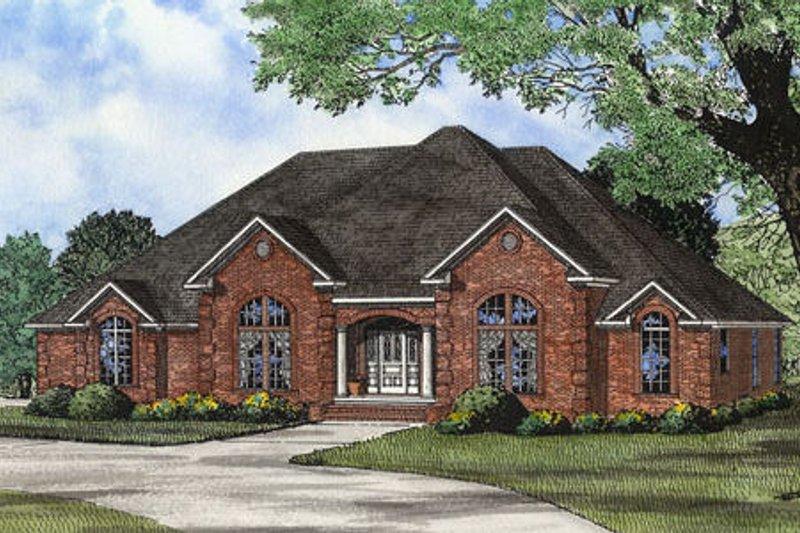 Dream House Plan - European Exterior - Front Elevation Plan #17-2308