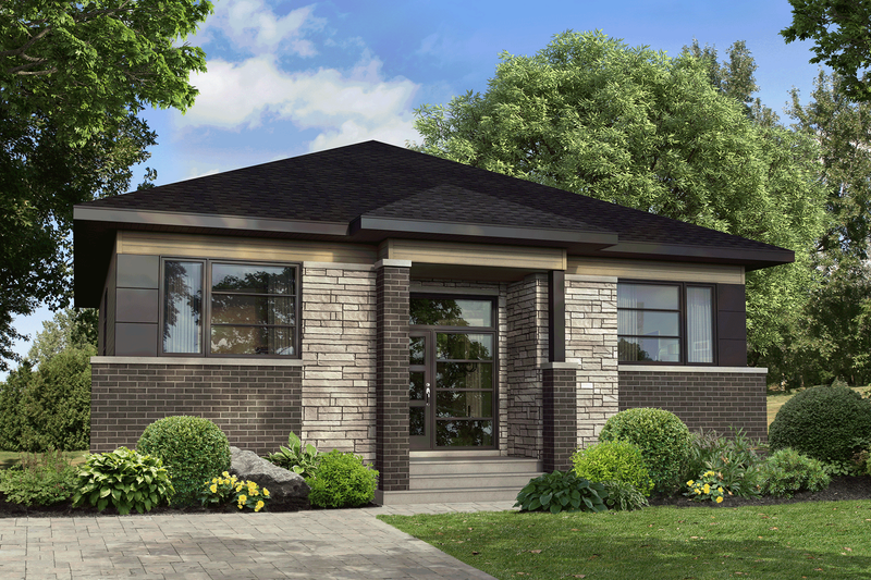 Home Plan - Contemporary Exterior - Front Elevation Plan #25-4918