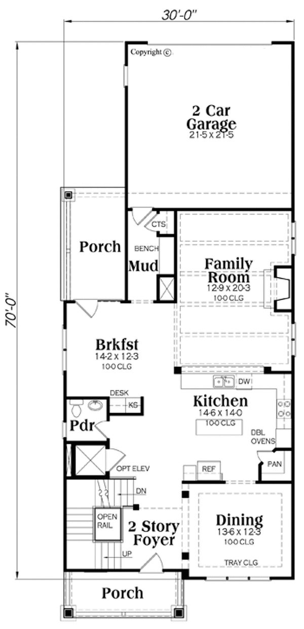 Craftsman Floor Plan - Main Floor Plan Plan #419-276