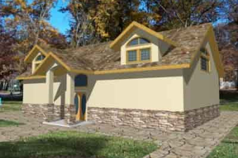 Traditional Exterior - Front Elevation Plan #117-156 - Houseplans.com