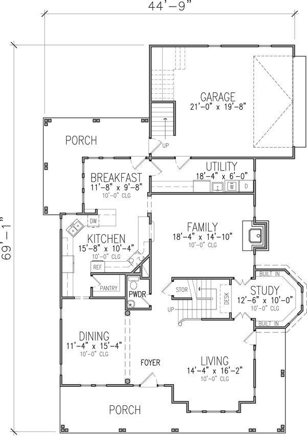 Victorian Floor Plan - Main Floor Plan #410-3612