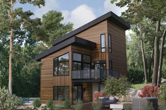 Contemporary Exterior - Front Elevation Plan #25-4931
