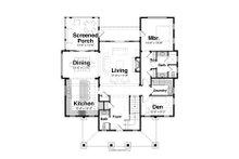 Country Floor Plan - Main Floor Plan Plan #928-4