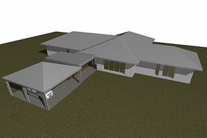 Ranch Exterior - Front Elevation Plan #496-6
