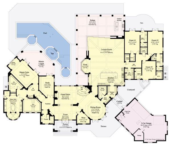 European Floor Plan - Main Floor Plan Plan #930-510