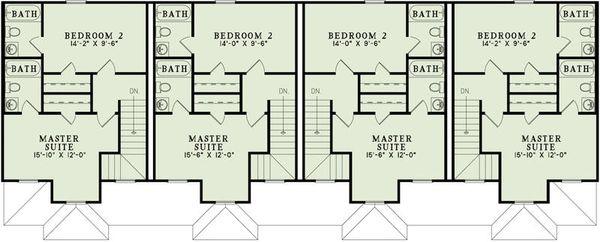 Traditional Floor Plan - Upper Floor Plan #17-2457